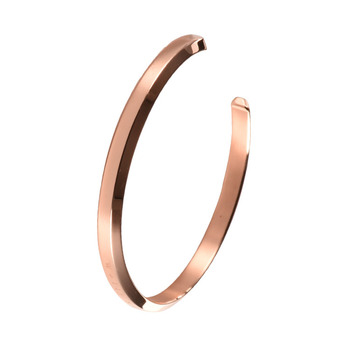 682cb7d833bd Classic Rose Gold Women Cuff Bracelets Personalized Stainless Steel Cuff  Bangle Bracelet