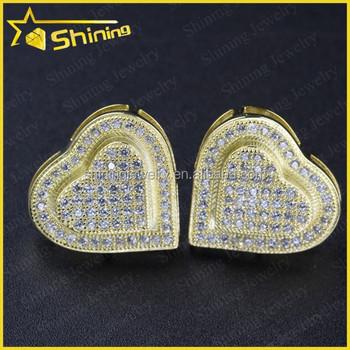 4ba8f5e913115 Guangzhou Double Heart Mens Micro Pave Screw Back Earrings For Men - Buy  Screw Back Earrings For Men,Earrings For Boys,Mens Screw Back Earrings ...