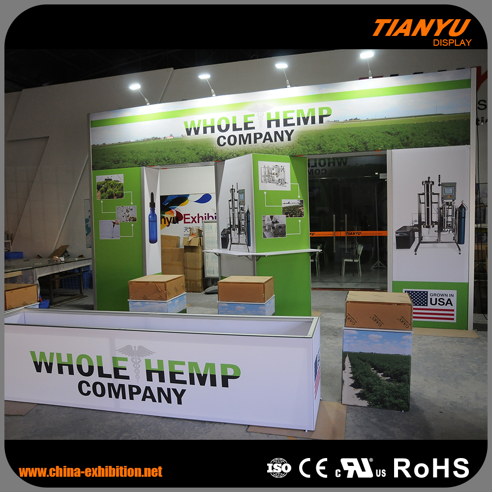 Universal Custom Shape Printed Tradeshow M Series Booth Exhibition Stand Construction For Advertising