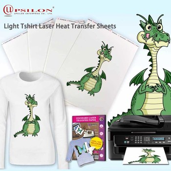 Light Tshirt Laser Heat Transfer Sheets