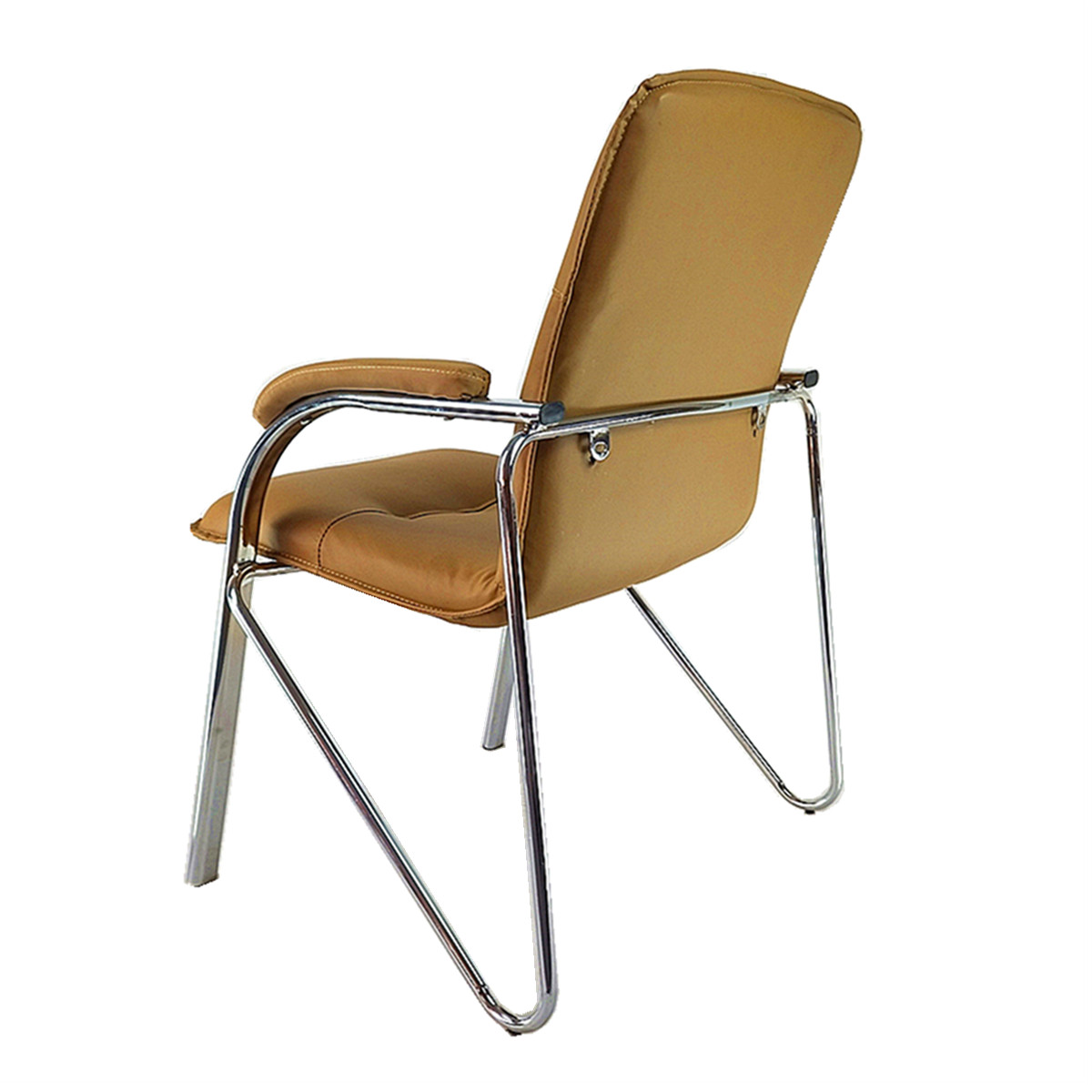 brown leather office chairs. Modern Brown Leather Office Chair Without Wheels Chairs