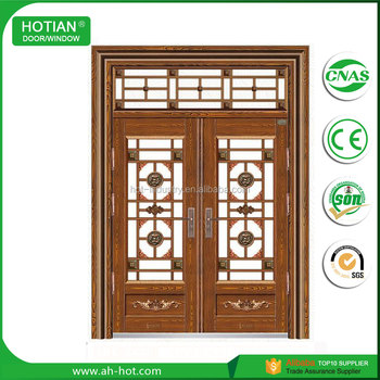 China Supplier Luxury Commercial Double Steel Glass Doors Used