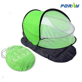 Baby Travel Bed Portable Beach Tent Upf 35 Sun Shelter Pop Up Mosquito Net