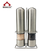 Stainless Steel Electric Salt And Pepper Grinder Set With Stand