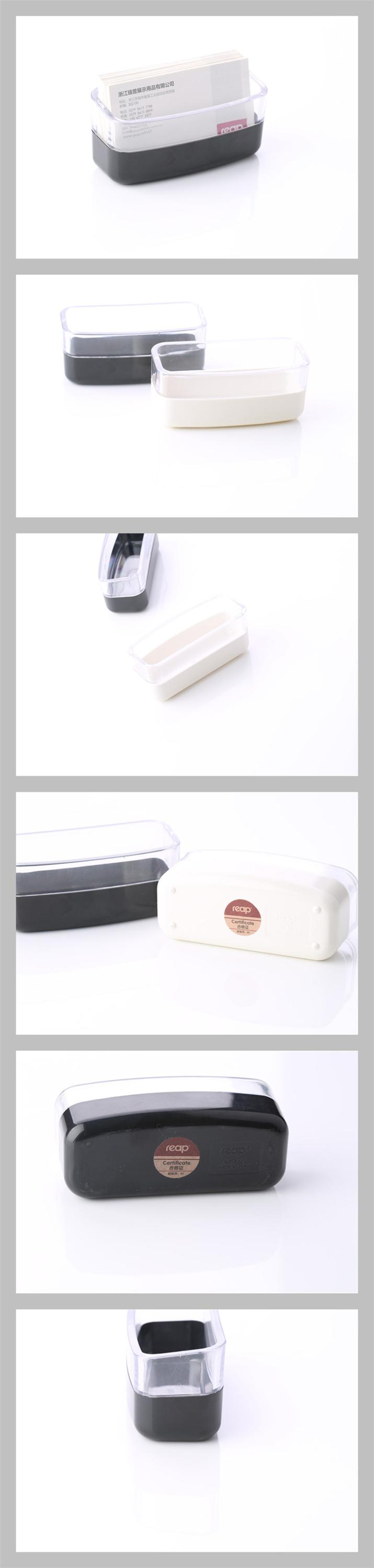 two colors plastic material business card holder for office and