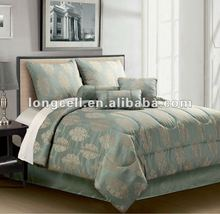 wholesale Factory made 100% polyester cheap 7pcs Jacquard Comforter Set made in china