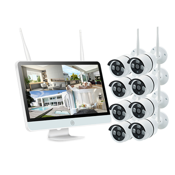 Long range HD 1080P 8ch WiFi IP OUTDOOR Waterproof Camera alarm system home security wireless 15.6inch LCD screen NVR