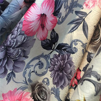 good quality!custom print sofa upholstery fabric samples