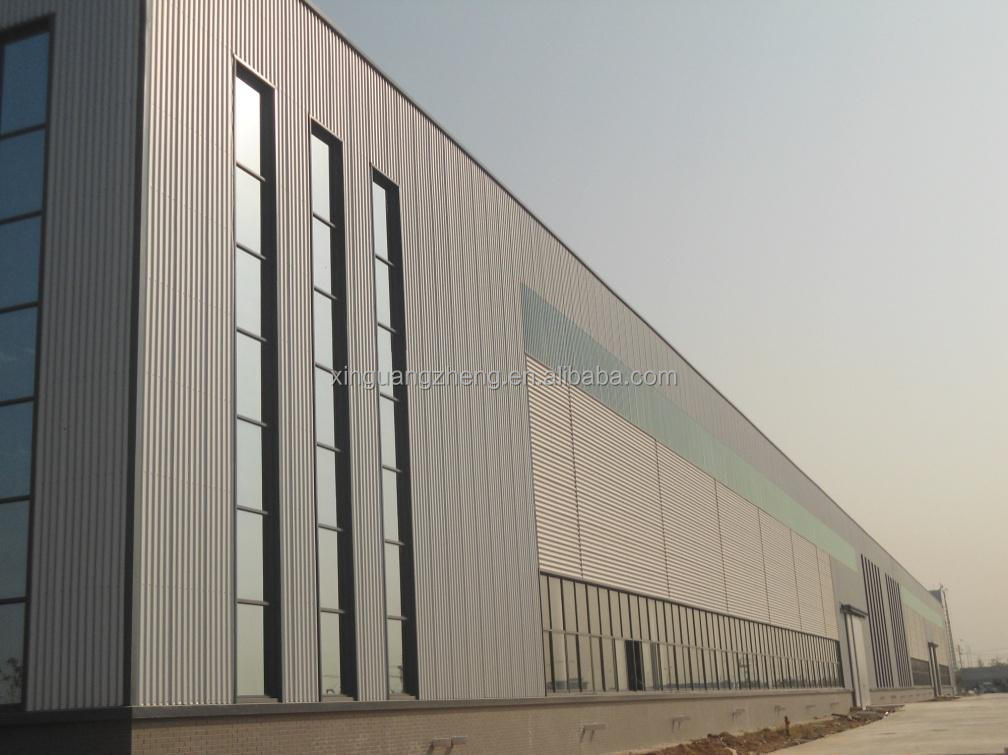 Industrial prefab light weight steel structure frame warehouse