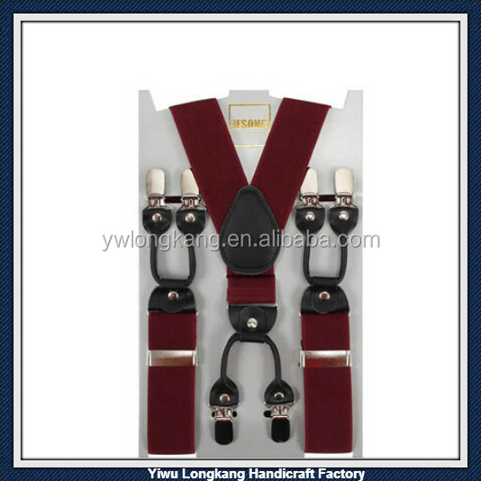 Top quality Factory Price Personalized Strengthen Elastic Suspenders Adult Straps Suspenders