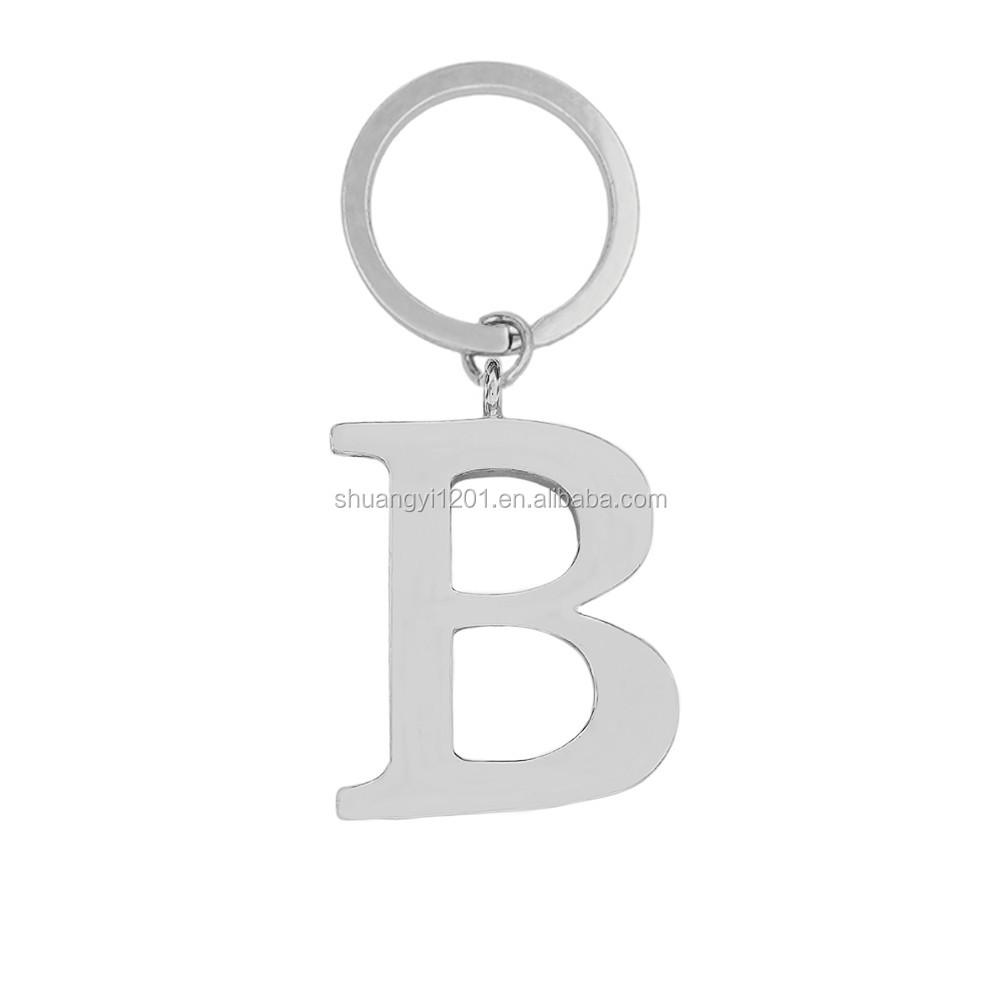 Personnalisé En Métal Lettre B Porte-clés Détecteurs Nom Initial ...