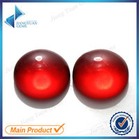 wholesale round cabochon flat back red glass stones