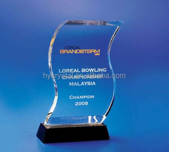 wholesale most popular blamk crystal trophy award & crystal champions league trophy & crystal nba replica trophy