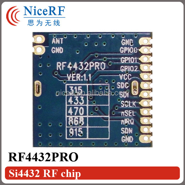 G-NiceRF 433/470/868/915 MHz FSK RF Transmitter and Receiver Si4432 RF4432PRO Wireless Transceiver Module