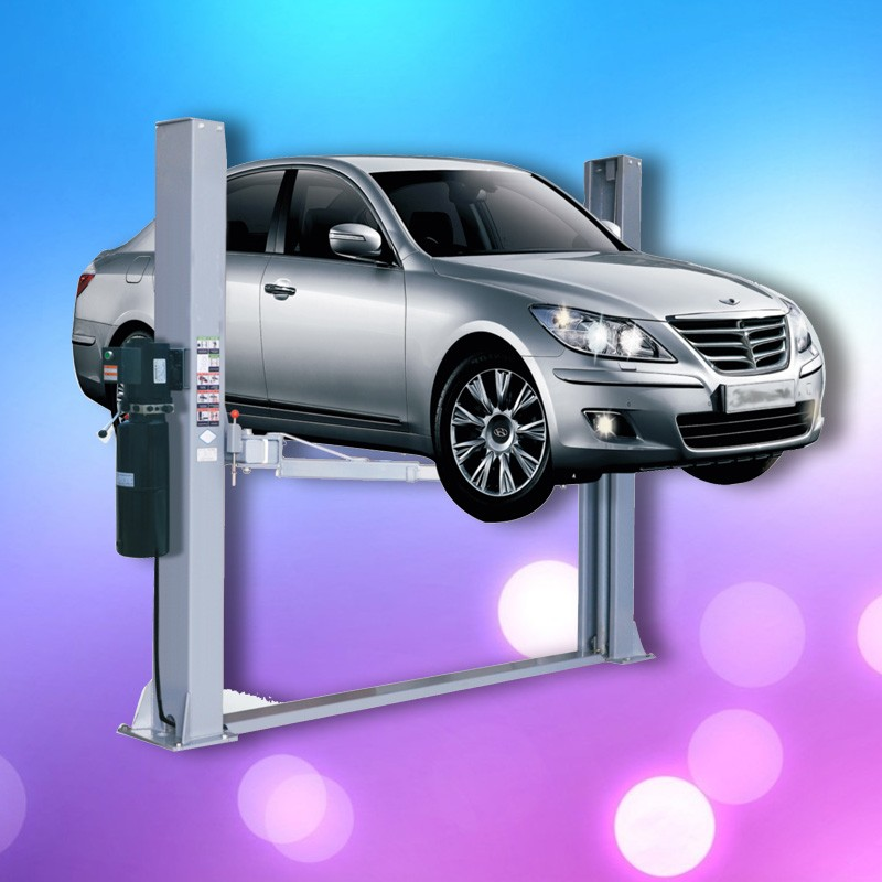 One cylinder Hydraulic lift type and single post design mobile single post lift