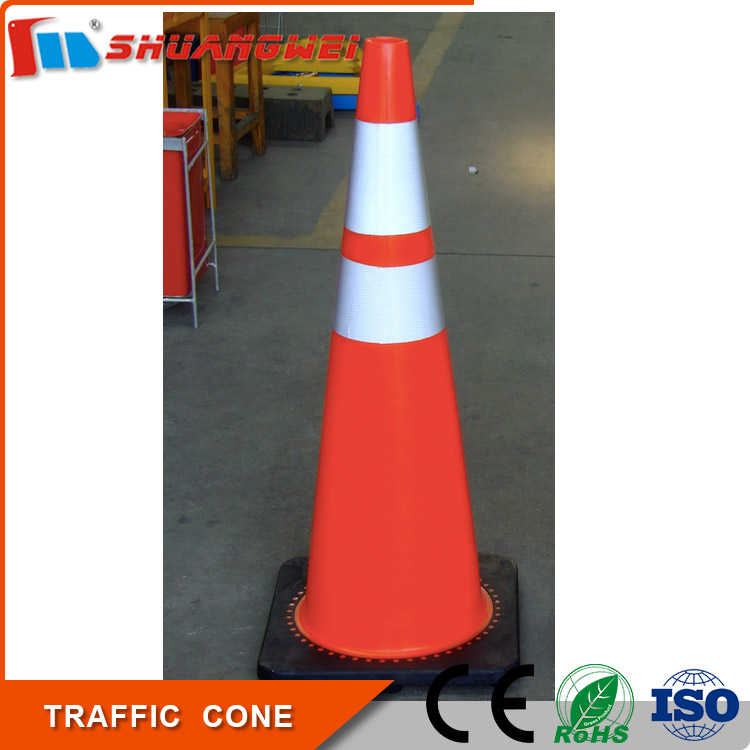 portable 900mm Reflective pvc road traffic cone