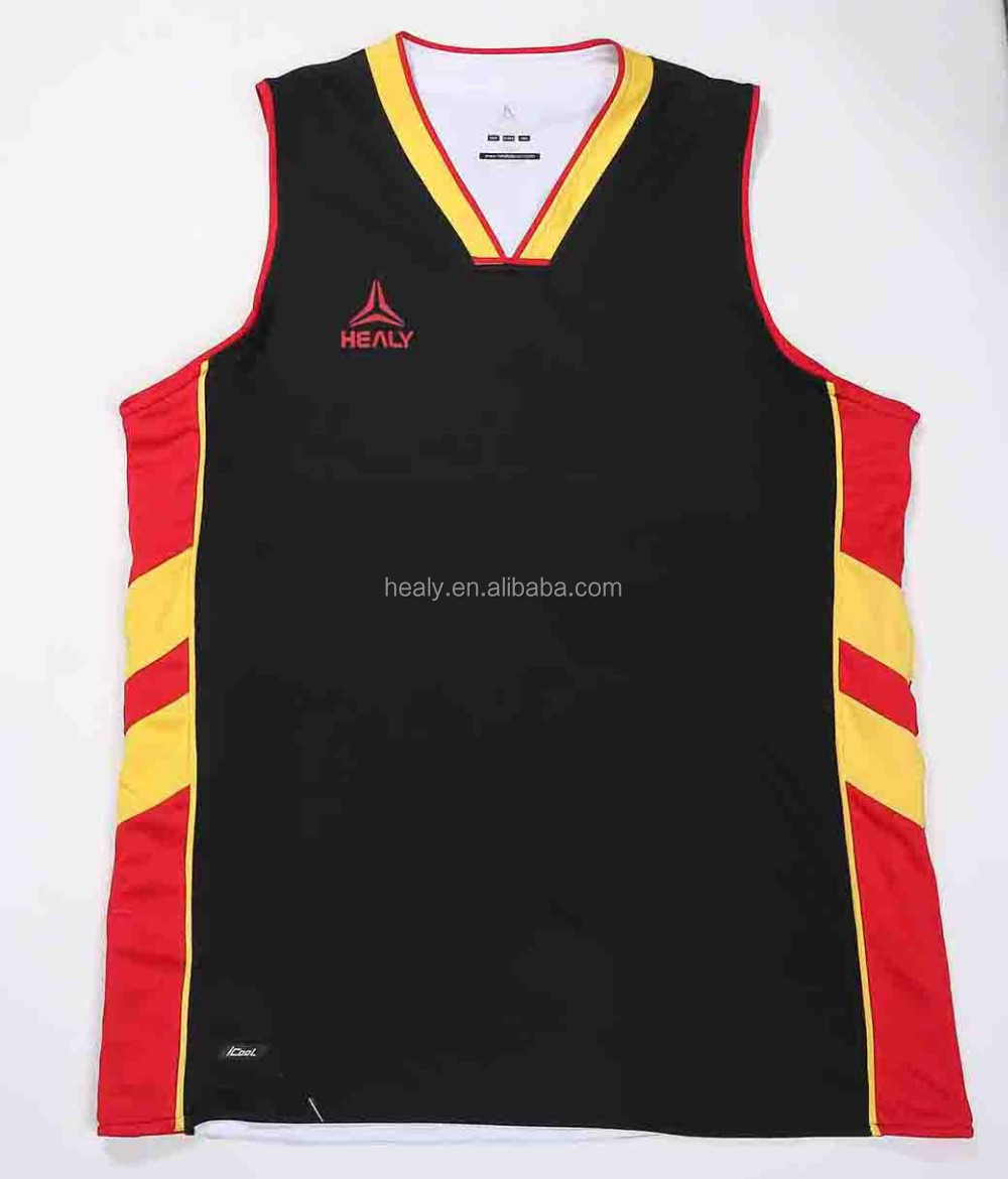 Low MOQ Sublimation printed polyester reversible basketball tank top