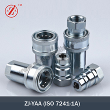 ZJ-YAA Steel iso 7241-a quick disconnect couplings and hydraulic valves