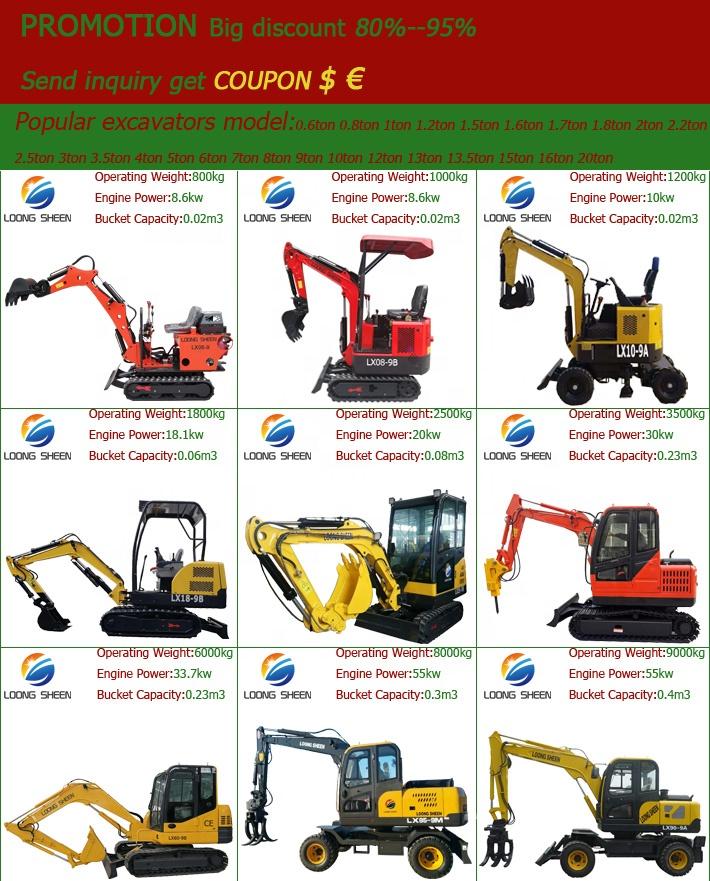 Nuovo Piccolo Escavatore Cingolato Idraulico Della Macchina Micro Mini Digger 1 Ton A Buon Mercato Escavator Mini