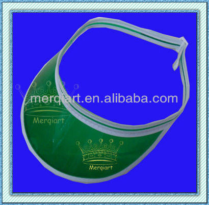 Clear Green plastic Poker Dealer Visors