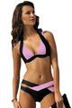 INGAGA Summer 2016 New Women Sexy Bikini Set Push Up Swimsuits Swimwear Cross Double Halter Swim