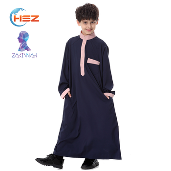 Zakiyyah TH873 New Design Kids Abaya for Muslim Prayer with Button High Quality Cotton Baju Kurung in Dubai