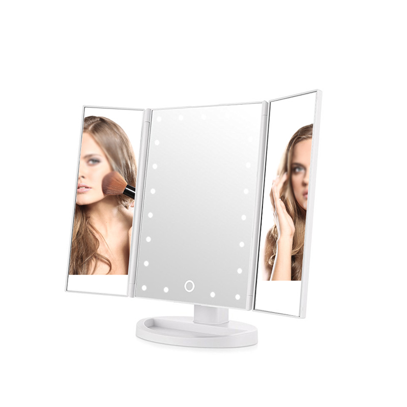 2018 Tri Fold LED Lighted Makeup Mirror