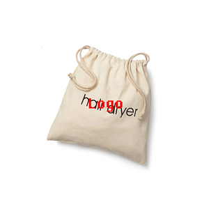 Custom logo gift bag cotton muslin toy bag with drawstring