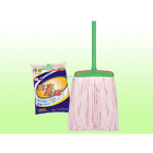 household cotton fabric floor cleaning mop with plastic stick