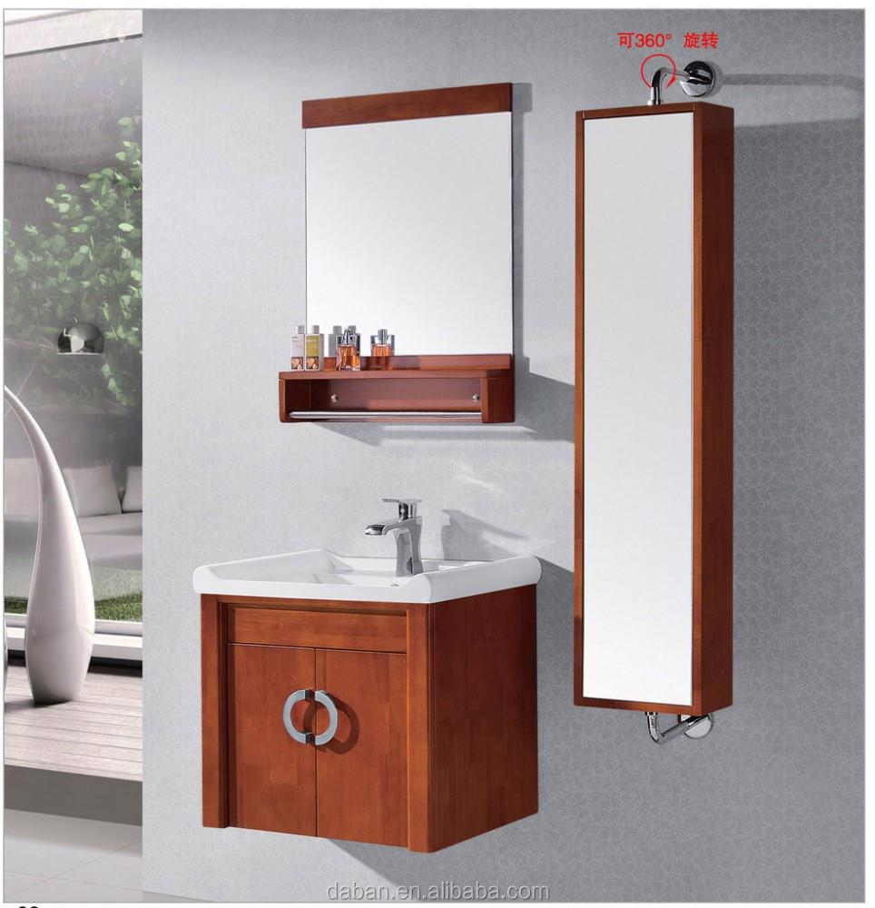 Teak Wood French Style Bathroom Furniture Solid Vanity