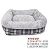 plaid pet beds