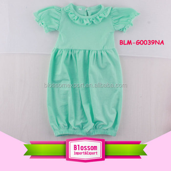 b4699425c Monogram Blank Ruffle Gown Photos Frock Mint Romper Plain Infant Tunic  Dress Latest Newborn Back Buttons Short Sleeve Gown - Buy Monogram Blank  Baby ...