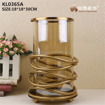 home decoration pieces restaurant souvenir design luxury flower glass vase items