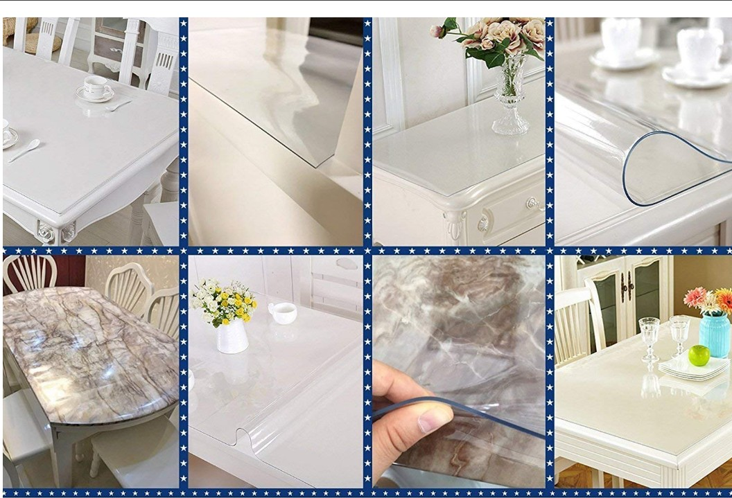 Supplying Waterproof Soft Clear Transparent Pvc Plastic Tablecloth Rectangle Tablecloth