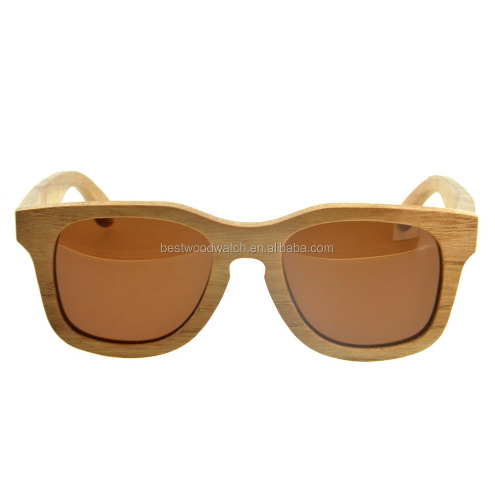 2017 Summer Wholesale UV400 Polarized Bamboo Sunglasses Handmade Eco Friendly Wood Sun Glasses