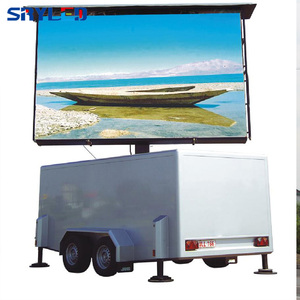 Shenzhen Factory IP65 P10 Mobile Led Display Screen Trailer for Advertising