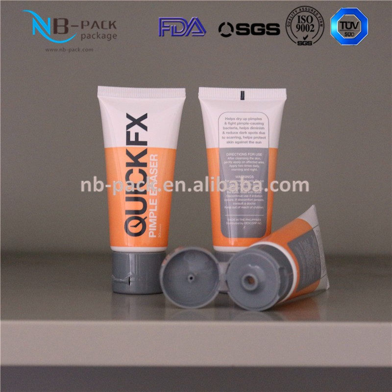 D35mm Flat Plastic Tube Packaging With Screw Cap