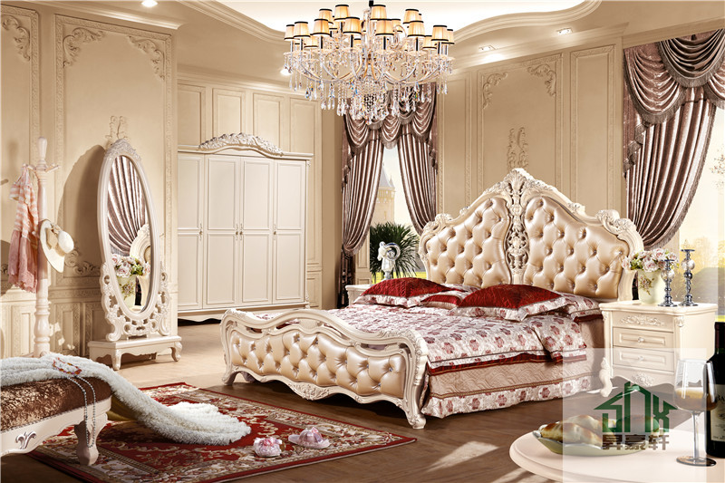 New Arrival Antique Bedroom Furniture Ha 915 French Style Bedroom Wall Wardrobe Design Wooden