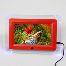 "Digital Photo Frame 7"" Full-view Picture Frame electronic porta retrato Alarm Clock MP3/MP4 Movie Player porta fotos digital"