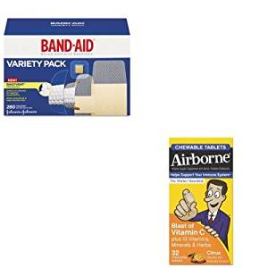 KITABN20334JOJ4711 - Value Kit - Airborne Immune Support Chewable Tablet (ABN20334) and Band-aid Sheer/Wet Adhesive Bandages (JOJ4711)