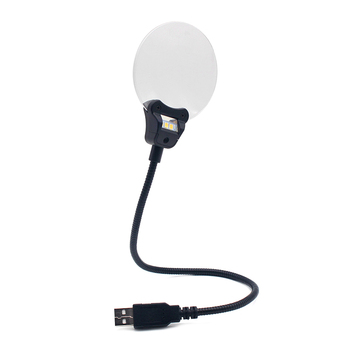 3X 5X USB magnifying glass reading magnifier with led light
