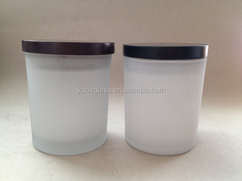Wholesale Matte Black Glass Candle Jars And Different Color Of Candle Jar  Wooden Lid - Buy Matte Black Glass Candle Jars,Glass Candle Jars,Black  Glass