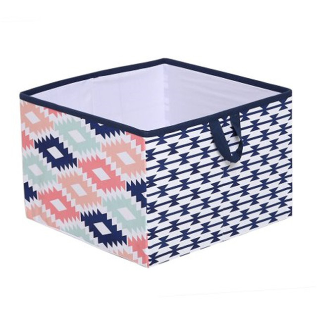 Red Cube Furniture Shallow Storage Bins Simplify Collapsible Storage Box