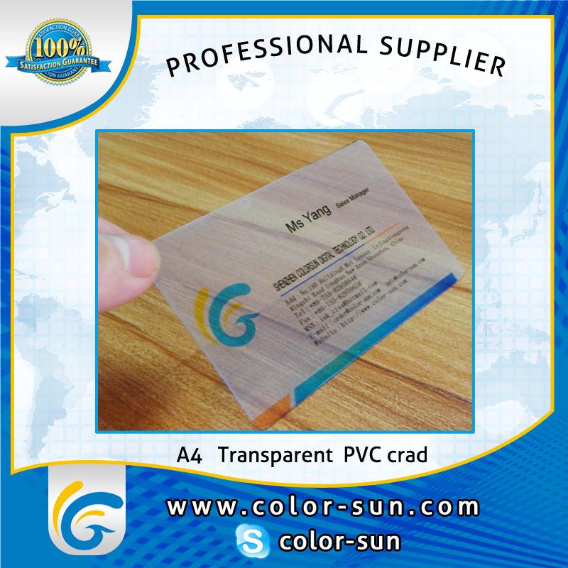 Hot Sales! 1box A4 Size Transparent Pvc Card Can Make 500pcs ...