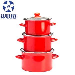 Top quality enamel cookware set european enamel coated cast iron cookware