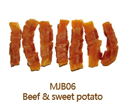 MJB06 Beef Jerky and Sweet Potato Bulk Beef Jerky Dog Treats Beef Jerky Dog Food Factory Healthy Pet Food for Dog
