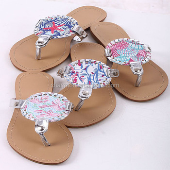 734af822f8ba83 Wholesale Summer Women Personalized Lilly Pulitzer Sandals - Buy ...