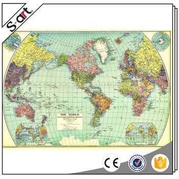 Latest World Map.Popular Products Latest Design World Map Giclee Canvas Print Buy