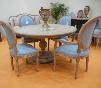 French Style Round Wooden Dining Room Table And Chair Set View Dining Table And Chairs Raymer Furniture Product Details From Hangzhou Raymer
