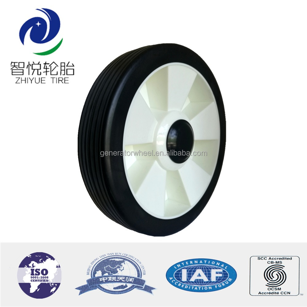 6/7/8 inch plastic wheel for garden cart, trolley, air compressor